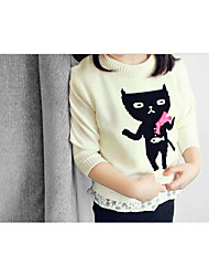 Girl Casual/Daily / Sports Solid Sweater & Cardigan,Cotton Winter / Fall