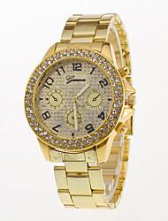 Hombre Reloj de Moda Reloj de Pulsera Simulado Diamante Reloj Cuarzo / Acero Inoxidable Banda Casual Plata Dorado Oro Rosa