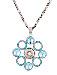 Necklace Rhinestone Pendant Necklaces Jewelry Wedding / Daily / Casual Geometric / Euramerican / PersonalizedAlloy / DIY Snop Button Chain Necklace