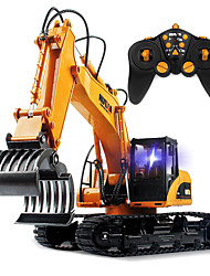 HuiNa Toys 15Channel 2.4G 1/12RC Metal Excavator Charging RC Car