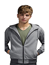 Trenduality® Men's Round Neck Long Sleeve Hoodie & Sweatshirt Gray - 31552