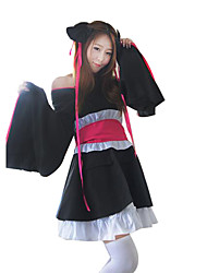 Cosplay Costumes Festival/Holiday Halloween Costumes Black Solid Skirt Female