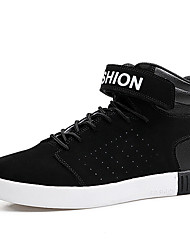 Men's Sneakers Comfort Suede Shoes Fashion High Top Shoes Athletic Flat Heel Hook & Loop / Lace-up More Color