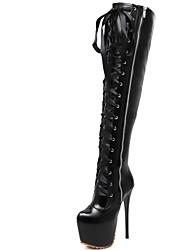 Mujer-Tacón Stiletto-Gladiador-Botas-Oficina y Trabajo Fiesta y Noche Vestido Informal-Sintético-Negro