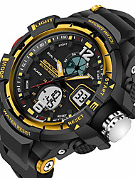SANDA® Men's Sport Watch Military Style Alarm Waterproof Sport Japanese Quartz Watches Shock Resistance Relogio Digital Wrist Watch
