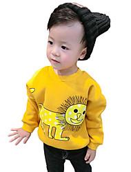 Boy Cotton Spring/Fall Fashion Going out/Casual/Daily Lion Pattern Print Long Sleeve Fleece Lining Sweatshirt