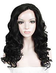 IMSTYLE 20''Natural Looking Curly Wave Synthetic Lace Front Wigs Heavy Density For Black Women