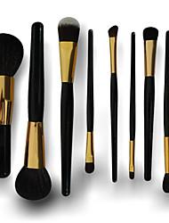 9 Conjuntos de pincel Escova de Cabelo de Cabra Viagem / Ecológico / Portátil Rosto / Olhos / Lábios Outros