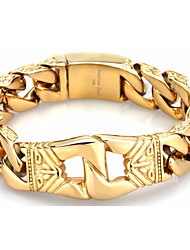 China Jewelry Supplier Kalen New Bracelet 316 Stainless Steel 18K Dubai Gold Plated Link Chain Bracelet Fist Charm Hand Chain Accessory Gifts