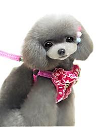 Gatos / Cães Arreios / Trelas Macio / Corrida / Colete / Segurança / Casual Sólido / Pontos Polka / Tiaras e Coroas Preto / Rosa Tecido