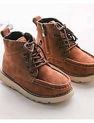 Boy's Boots Comfort Cowhide Casual Black / Brown / Burgundy