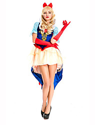 Princess Fairytale Festival/Holiday Halloween Costumes Red White Blue Print Dress Gloves HeadwearHalloween Christmas Carnival Children's