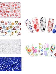 20pcs/lot Nail Star Paper 3D Nail Sticker