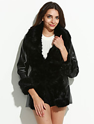 Ms fashion for autumn/winter warm imitation fur coat coat