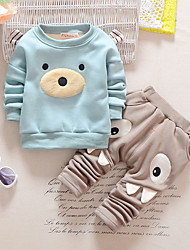 Girl Casual/Daily / Sports Solid / Print Sets,Cotton Winter Long Sleeve Clothing Set