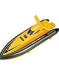 Schnellboot Huanqi 958A 1:12 Rennen RC Boot Bürstenloser Elektromotor 2.4G 50km/h Gelb