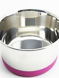 Cachorro Comedouro Animais de Estimação Tigelas e alimentação de animais Prova-de-Água / Reflector / Portátil / Casual VermelhoAço