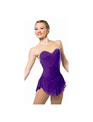 Robe de Patinage Femme / Enfant Sans manche Patinage Robes Haute élasticité Robe de patinage artistique Respirable / ConfortableDentelle