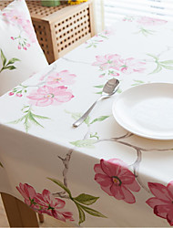American Style Square Toile Table Cloth  100% Cotton Material Hotel Dining Table / Table Decoration