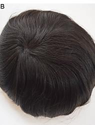 оптовые мужские Toupee человеческие волосы 7x9 частей человеческих волос ботворезы волосы мужских волос систем больших на складе