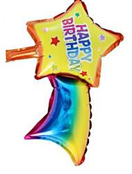 Balões Decoração Para Festas Quadrangular Plástico Arco-Íris 2 a 4 Anos 5 a 7 Anos 8 a 13 Anos