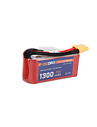 OCDAY 11.1V 1300mAh 75C Lipo Battery XT60 Plug for 150-280 Raing Quacopter