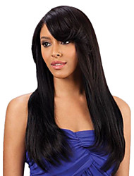 natual noir # 1b invisible profonde dentelle l partie des cheveux humains droites avant perruques de cheveux 20inch