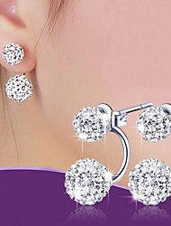 Earring Stud Earrings / Ball Earrings Jewelry Women Wedding / Party / Daily Alloy 1 pair Silver
