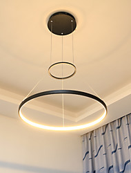 36W Modern Style Simplicity LED Pendant Light Metal LED Ring Living Room light
