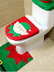 Christmas Originality Three-piece Toilet  Elf Model