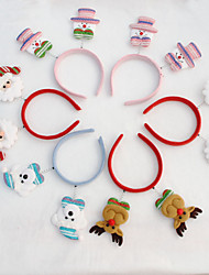 10PCS Christmas Head Buckle Christmas Bright Cloth Color Head Buckle Christmas Decorations Christmas Party Supplies