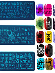 12pcs Christmas Nail Art Stamping Plates Printing Patterns