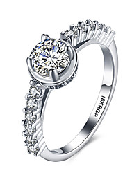 Fashion Wedding Rings for Women 18K Platinum Plated CZ Diamond Jewelry Ring Vintage Accessories Engagement Wedding Jewelry