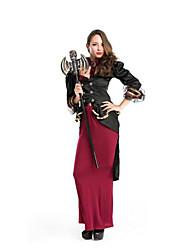 Fête / Célébration Déguisement Halloween Noir & rouge Couleur Pleine Manteau / Jupe / Plus d'accessoires Halloween / Noël / Carnaval