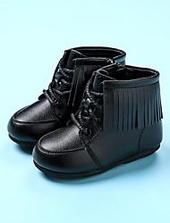 Mädchen-Stiefel-Lässig-MikrofaserKomfort-Schwarz / Rot / Beige
