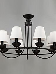 Eight Heads Amercian Industrial Modern Electroplate Chandelier Lamp Decorate for the Living Room / Bedroom Pendant Light