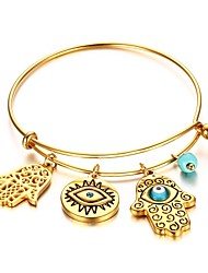 Women's Charm Bracelet Jewelry Halloween/Party/Birthday Fashion Stainless Steel/ Gold Plated/Turquoise Golden 1pc Gift