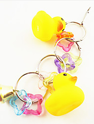Multi-Color Portable Metal Acrylic Bird Toys 1pc