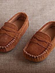 Boy's Flats Moccasin Suede Casual Peach / Camel / Khaki