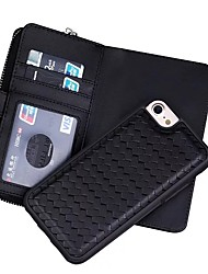 For iPhone X iPhone 8 iPhone 7 iPhone 6 iPhone 5 Case Case Cover Wallet Card Holder Full Body Case Solid Color Hard Genuine Leather for