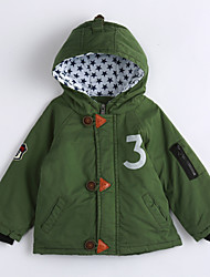 Boy Casual/Daily Solid Down & Cotton Padded,Cotton Winter Long Sleeve