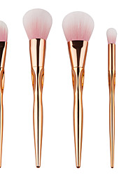 High Quality 5pcs Gold Face makeup Brush Set Powder Blush Contour Foundation Brush For Face Color Cosmetics