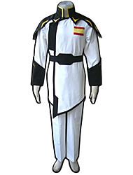 Inspirado por Gundam Fantasias Anime Fantasias de Cosplay Ternos de Cosplay Cor Única Branco / Preto Casaco / Calças / Cinto
