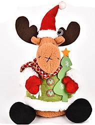 Toys Stuffed Toys Santa Suits / Elk / Snowman Cartoon / Lovely / High Quality / Fashion Holiday Supplies Boys / Girls Textile / Cotton