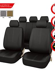assento de couro pu auto carro universal abrange cor bege cinza preto com 3 zipper