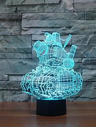 tanques de toque escurecimento 3D conduziu a luz da noite 7colorful decoração atmosfera lâmpada de luz de Natal iluminação novidade
