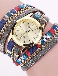 Women's Fashion Watch Wrist watch Bracelet Watch Quartz Colorful PU Band Vintage Candy color Bohemian Charm Bangle Cool Casual