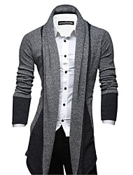 Men's Striped Cardigan , Polyester Long Sleeve