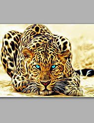 Stretched Canvas Print / Unframed Canvas Print Animal ModernLepord One Panel Canvas Horizontal Print Wall Decor For Home Decoration