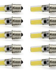 9W E17 Lâmpadas de Foco de LED T 1 COB 350 lm Branco Quente / Branco Frio Decorativa V 10 pçs